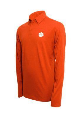 Campus Specialties Clemson Tigers Long Sleeve Polo Shirt - Heather Orange - Xl