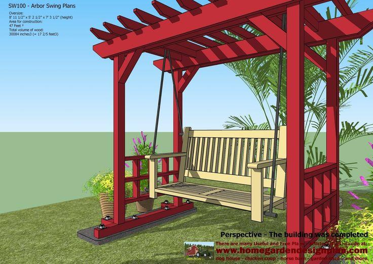 Home Garden Plans: SW100   Arbor Swing Plans   Swing Woodworking Plans    Outdoor Furniture