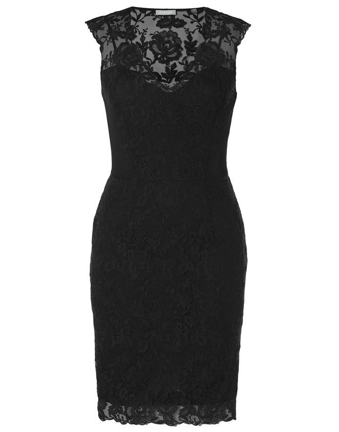 Jigsaw Lace Appliqué Shift Dress, £169. This is my favourite black dress. Stunning on hour glass body shape.