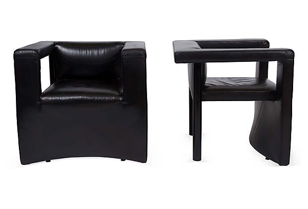 Gerd Lange for de Sede leather lounge chairs from the 1950s