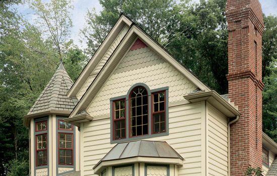 Houses With Light Vinyl Siding Roofing Solar Fiber