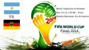 World cup final 2014 BRAZIL  The Official Match Schedule for the 2014 FIFA World Cup Brazil 2014  Match: Argentina vs Germany  Mon, Jul 14, 1:00 AM • Final  Estádio Maracanã, Rio de Janeiro....