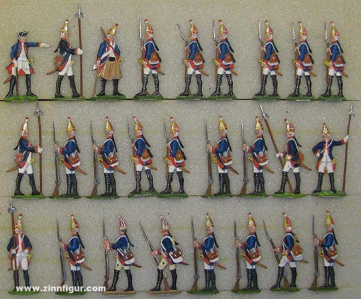 Diverse Hersteller: Grenadiere in Reserve, 1756 bis 1763 Berliner Zinnfiguren & Preussisches Buecherkabinett