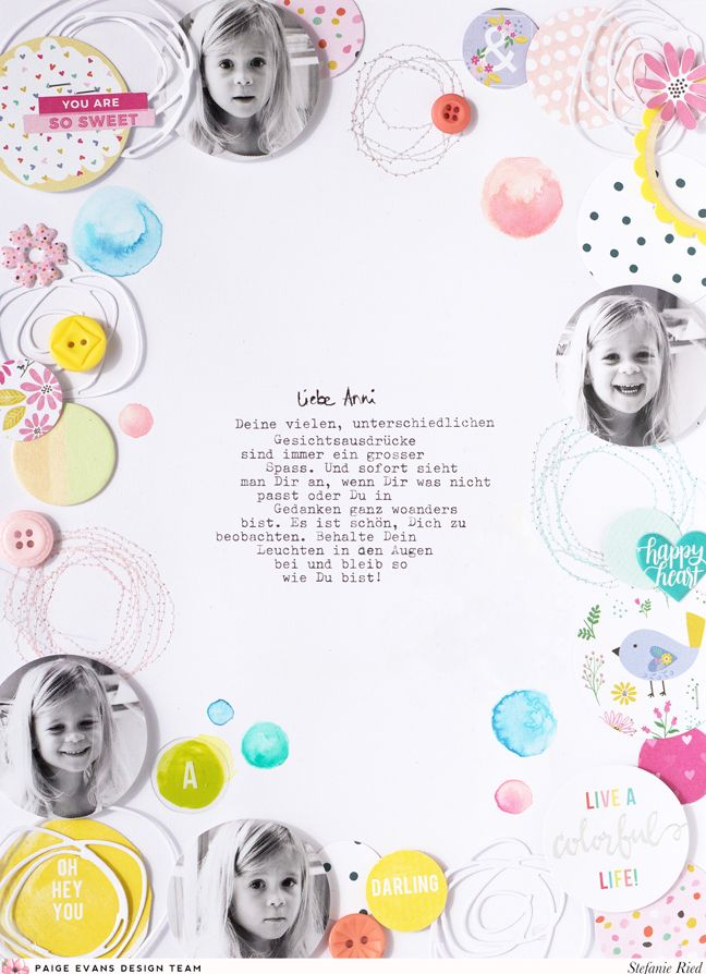 Featuring circles by Stefanie Ried for @paigeevans @pinkpaislee #scrapbooking