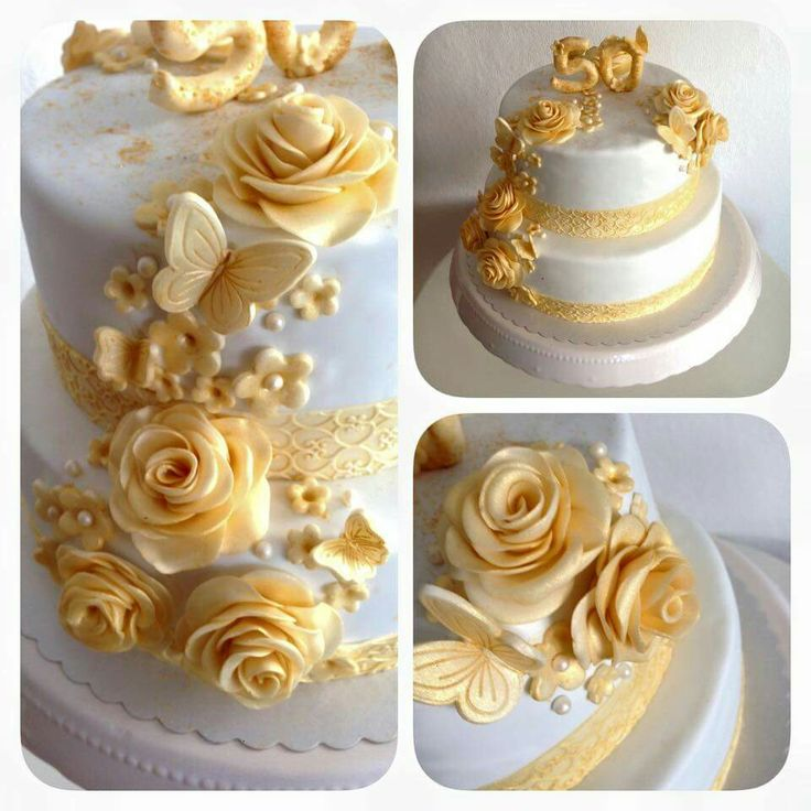 Pin By Ines Nagel On Goldene Hochzeit Pinterest Torte