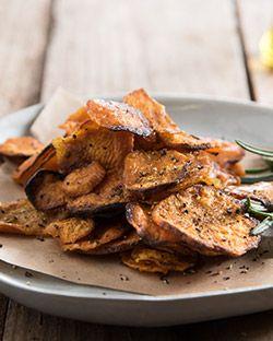 Snack: Baked Sweet Potato Chips