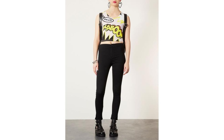 Pop art meets the crop top with a big style kaboom! by Top Shop.