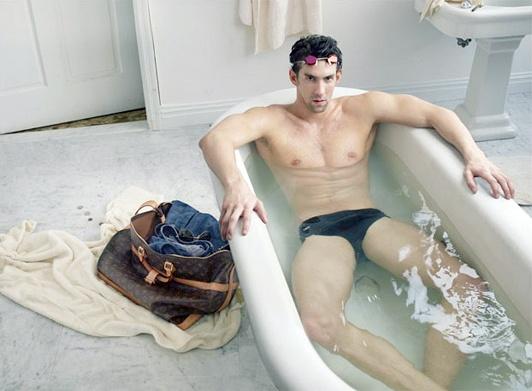 Michael Phelps pousa para Louis Vuitton | Propagandista Social