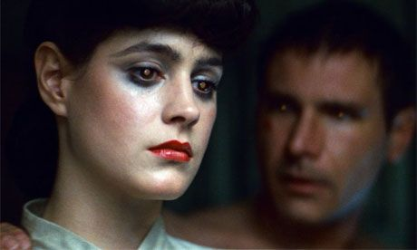 "A hot young Harrison Ford( age 30) and Sean Young in ""Blade Runner"". Directed by Ridley Scott."