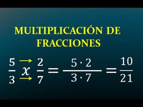 multiplicacion de fracciones homogeneas y heterogeneas
