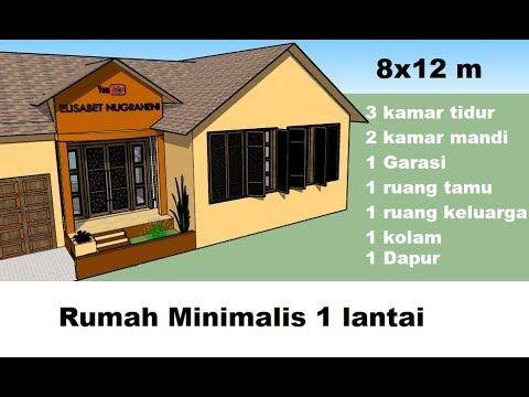 ep 4 inspirasi desain rumah minimalis 8x12 m rumah 1