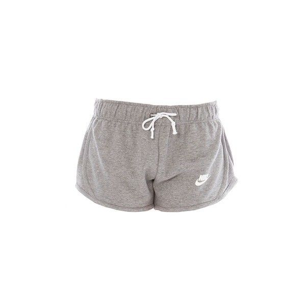 Vintage Fleece Tempo Mini short gris chiné ($11) ❤ liked on Polyvore featuring shorts, bottoms and pants