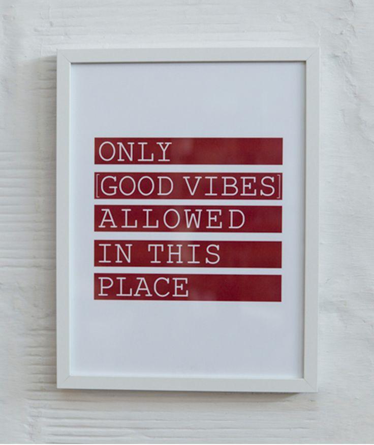 Regalos que encantan: Cuadro FRAMED WORDS [only good vibes] Grande en Giferent.