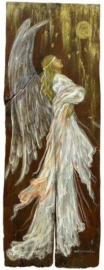 ζωγραφική σε παλιό ξύλο - andronikidou.gr