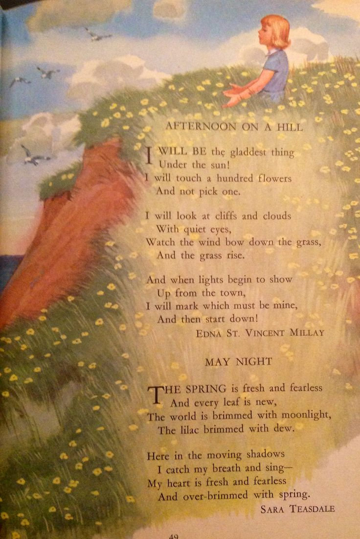 spring a poem by edna st vincent millay Robert l gale millay, edna, st vincent (22 feb 1892-19 oct 1950), poet, was  born in the small town of rockland, maine, the daughter of henry tollman millay .