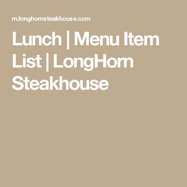 Lunch | Menu Item List | LongHorn Steakhouse