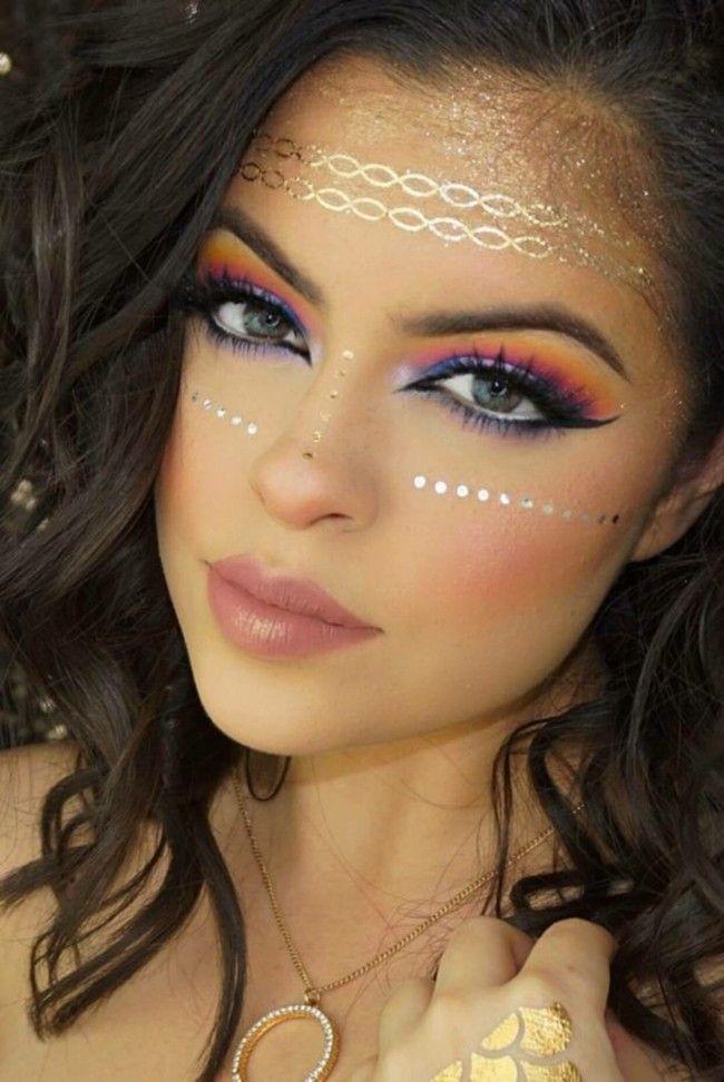 prinzessin make up schminken fasching karneval ideen