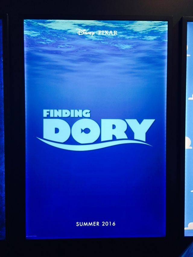 Finding Dory poster at D23 2015