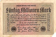 1922 hyperinflation in Weimar Germany