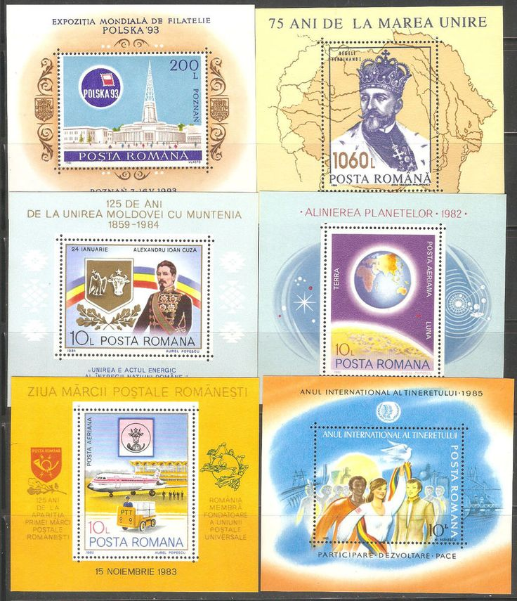 Blok and Colitis Romania Stamps 69 items MNH  CATALOG VALUE 250$