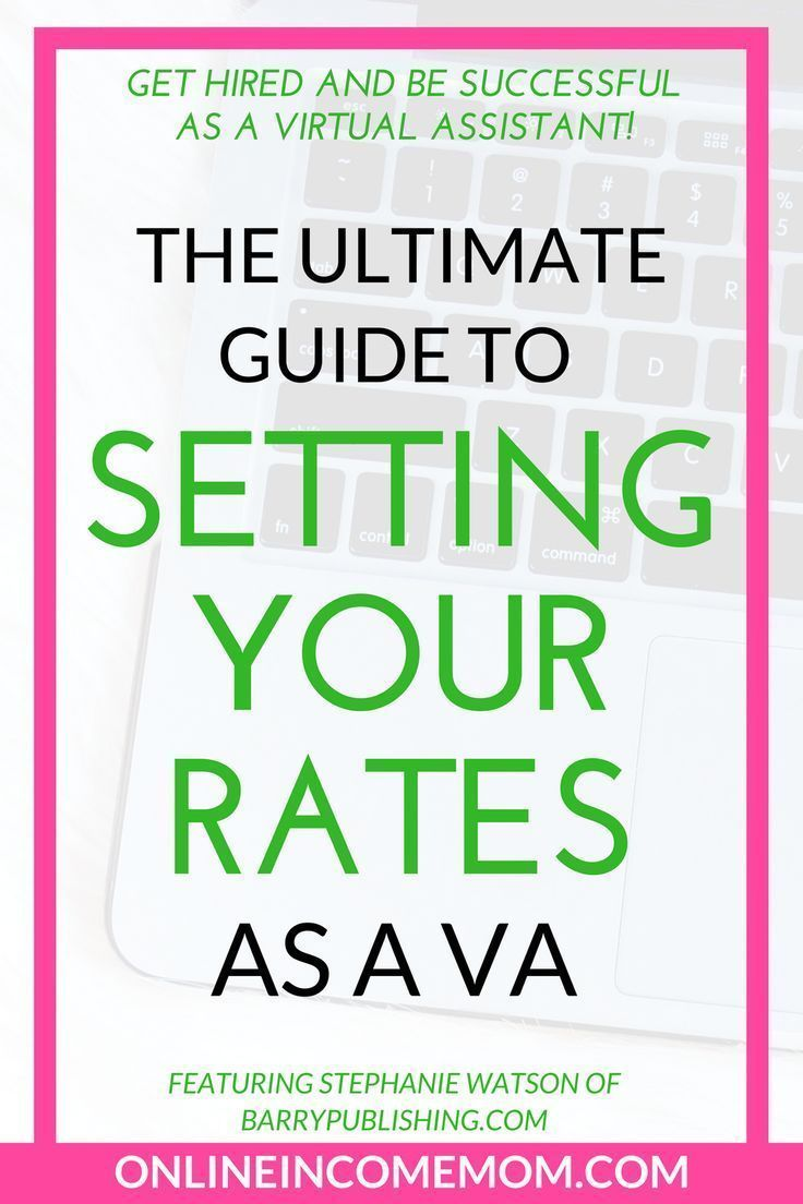 How To Set Your Rates As A Virtual Assistant Virtual Assistant