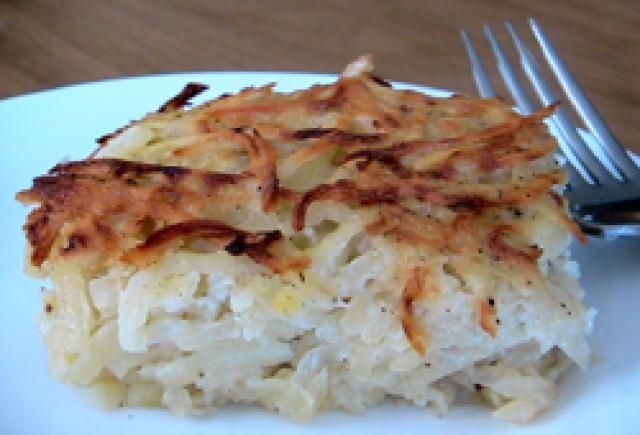 A Super-Easy Potato Kugel Recipe: Potato Kugel. Use only 1 tsp salt.