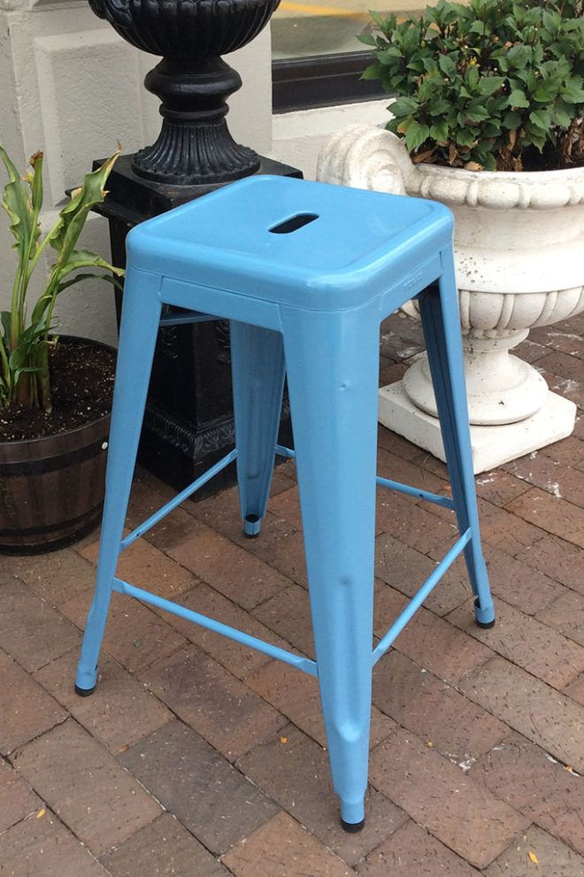 Awesome Tolix Counter Stool French Blue 195 00 While Supplies Machost Co Dining Chair Design Ideas Machostcouk