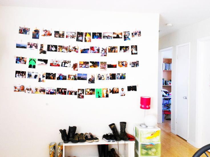 Clothesline Picture Wall #howto #tutorial