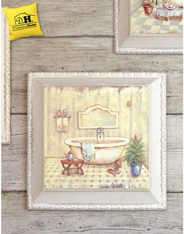 17 migliori immagini su stampe e quadri shabby chic su - Quadri in bagno ...