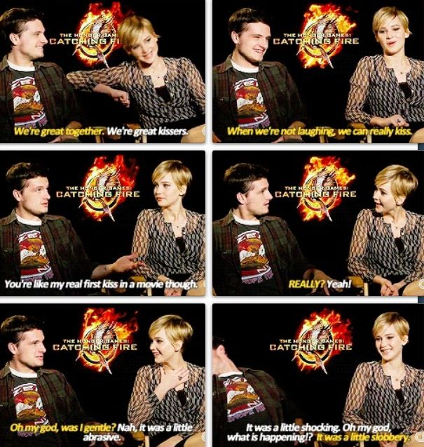 The hunger games interview with josh and jennifer dating