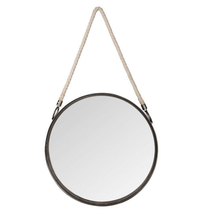 Runder Spiegel Zum Aufhangen Aus Metall Mit Seil D40 Aufhangen
