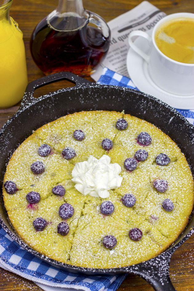 Lemon Blueberry Skillet Pancakes Picture