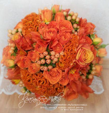 Оранжевый букет - оранжевый,рыжий,букет,букет невесты,свадебный букет