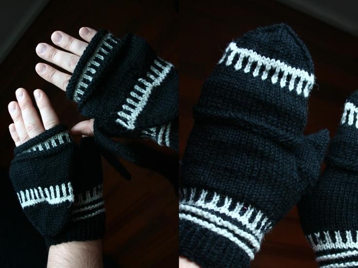 Fingerless gloves for men