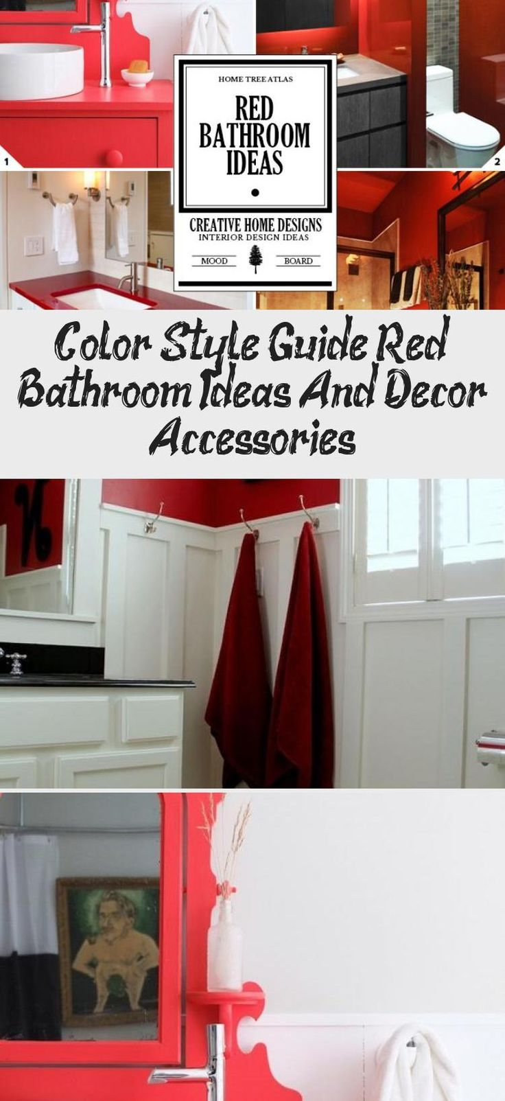 color style guide red bathroom ideas and decor