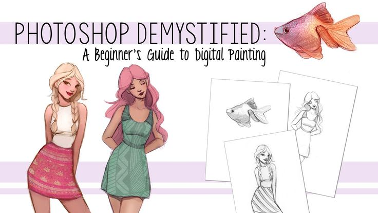 If you've ever been interested in digital painting, but the thought of working in Photoshop has intimidated you, look no further! I've made this Photoshop class with the absolute beginner in mind.  Learn how to turn your traditional sketches into new digital creations.  With easy to follow tutorials