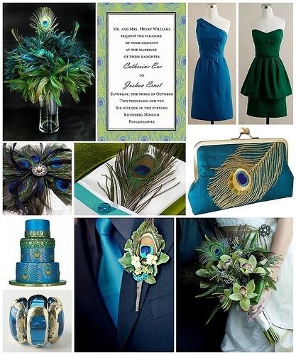Wedding theme: Peacocks, Wedding Ideas, Color, Weddings, Peacock Wedding, Peacockwedding, Peacock Theme, Wedding Theme, Weddingideas