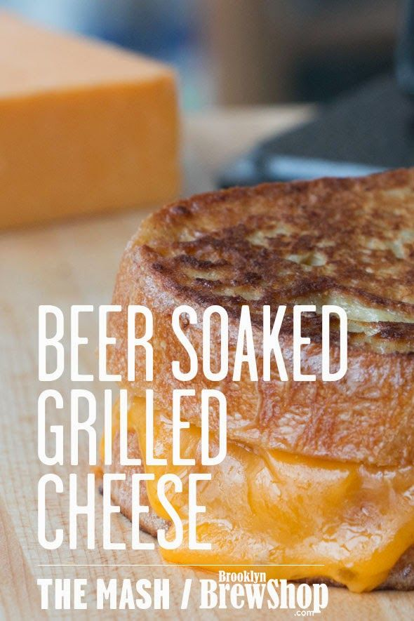 The Beer Czar: Cooking with Beer : Beer Soaked Grilled Cheese