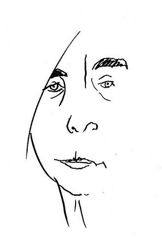 A lovely … line-drawing self-portrait by Tove Jansson
