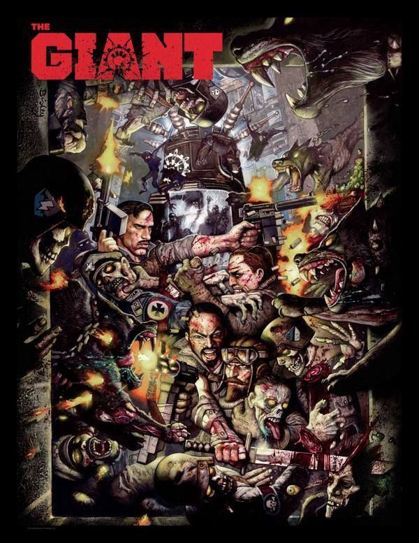 "Call of Duty: Black Ops III  ""The Giant"" Zombies Map Promo Art by Simon Bisley"
