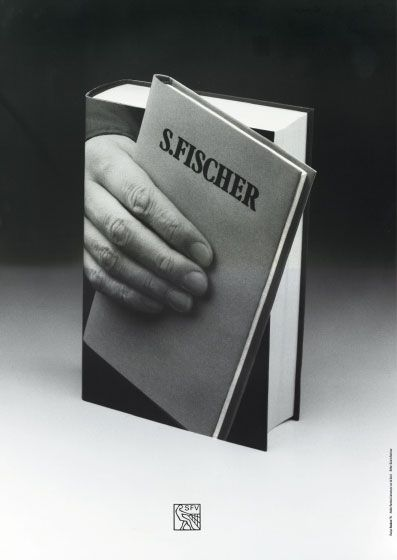 One of Gunter Rambow's book posters designed in the 1970s for Frankfurt-based publishing house, S. Fischer Verlag.