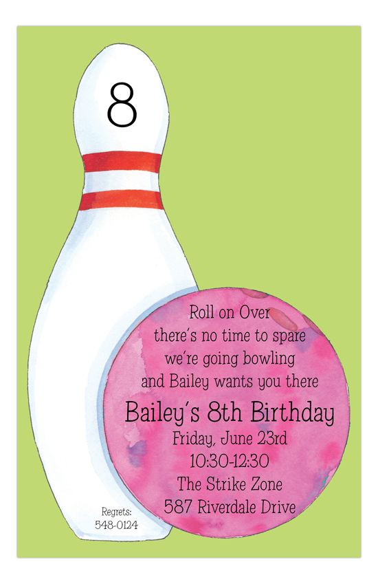 29 best Bowling Party Ideas images on Pinterest Anniversary - bowling invitation