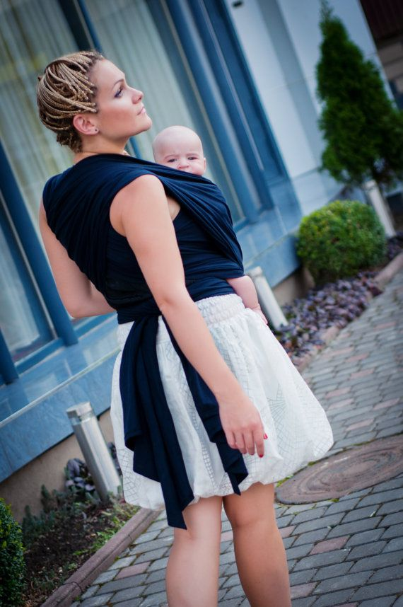 Sling Wrap for babies/ Deep Blue Cotton/ by Bagy collection