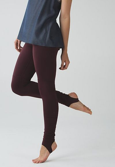 Wunder Under Pant (Stirrup): Stirrups keep hems down and chills out while you're getting warmed up.
