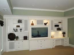 builtin desk u0026 center with speakers