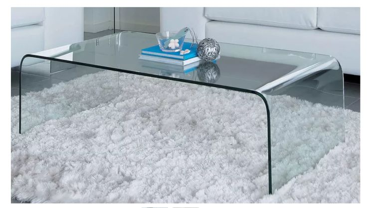 Domayne 'Saturn' glass coffee table