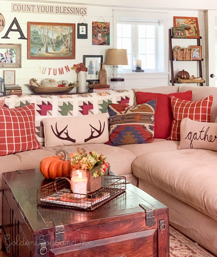 Our Fall Family Room