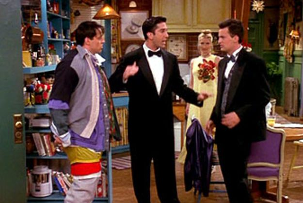 Add Chandler in a box, SEVEN, Baby Got Back, the Routine, and the Brad Pitt Thanksgiving episode and this would be PERFECT!