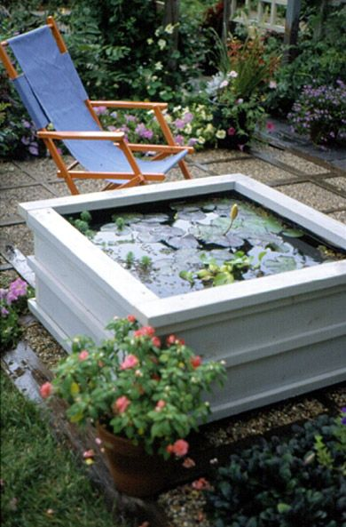 DIY instructions for A Pond for Your Patio