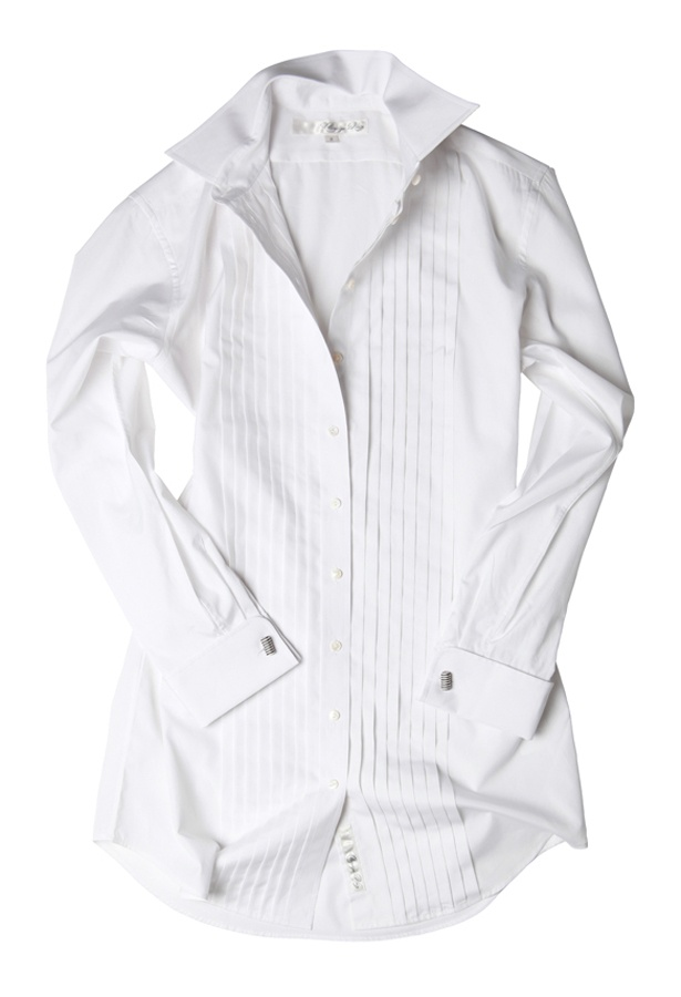 100 percent cotton shirting menswear style for women for Crisp white cotton shirt
